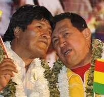 Evo Morales y Hugo Chávez se conocieron en 2002.