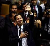 """Juan Guaidó promueve un """"gobierno de transición"""" que desplace al de Nicolás Maduro. Foto: AFP"""