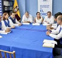 MACHALA, El Oro.- Autoridades nacionales del CNE analizarán las denuncias presentadas. Fotos: CNE