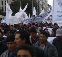 Protestaron por aumento del precio de las gasolinas y la posibilidad de privatizaciones. Foto: API
