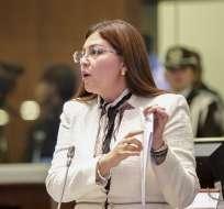 QUITO, Ecuador.- La exlegisladora apeló su destitución, resuelta por la Asamblea en noviembre de 2018. Foto: Asamblea