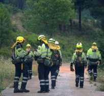 TOTALÁN, España.- Decenas de efectivos trabajan sin descanso desde el domingo para tratar de rescatar al menor. Foto: AFP