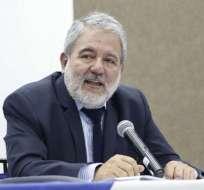 Organismo electoral entrega informe a la Fiscalía, según vocal Luis Verdesoto. Foto: Twitter CNE