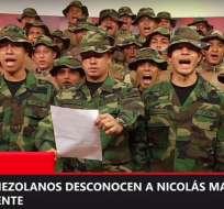 En video, reconocen como legítimo mandatario al jefe del Congreso Juan Guaidó. Foto: Captura de video