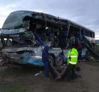 El accidente se produjo en la carretera a la localidad Challapata. Foto: Twitter