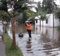 Las precipitaciones afectaron las labores agrícolas. Foto: Twitter