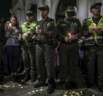 Atentado en Bogotá que dejó 21 muertos fue perpetrado por guerrilla del ELN. Foto: AFP