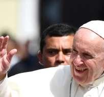 CIUDAD DE PANAMÁ, Panamá.- Más temprano, el líder de la Iglesia Católica se reunió con el presidente de esta nación. Foto: AFP