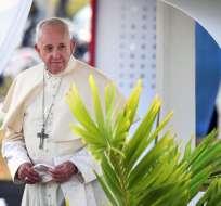 El Pontífice lanzó este viernes desde Panamá un duro reproche. Foto: AFP