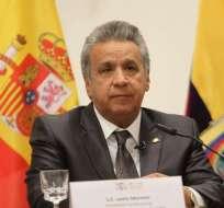 SALAMANCA, España.- El presidente Moreno ratificó reconocimiento a Guaidó y instó a llamar a elecciones. Foto: Presidencia.