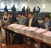 QUITO, Ecuador.- Este lunes, se debía realizar la audiencia de juzgamiento contra siete procesados. Foto: API