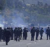 La Conaie denunció en redes represión policial. Foto: Conaie