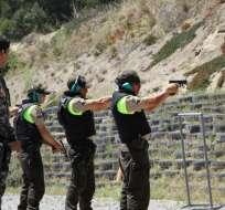 """Un policía puede usar su arma en defensa de la vida y ante un peligro """"inminente"""". Foto: Min. Interior"""