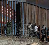 El primer migrante retornado fue un hondureño de 55 años. Foto: AFP (referencial)