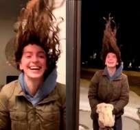 El frío de Chicago congela el pelo en menos de un minuto.