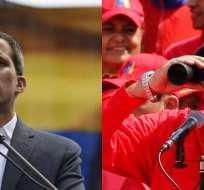 CARACAS, Venezuela.- El líder opositor midió fuerzas con Mauduro, quien prometió adelantar parlamentarias. Foto: Collage.