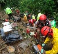 Los deslizamientos se produjeron en la carretera que une Caranavi y Yolosita. Foto. Tomada de El DEBER.