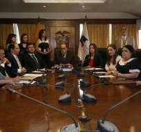Los magistrados fueron posesionados este martes en la Asamblea Nacional. Foto: API