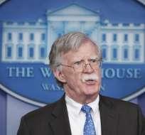 Así lo indicó John Bolton, consejero de Seguridad Nacional del presidente Donald Trump. Foto: AFP