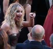 """Lawrence ganó el Óscar a mejor actriz por su papel en """"Silver Linings Playbook"""". Foto: AFP"""