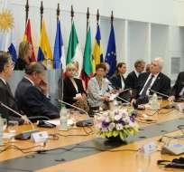 Ecuador formó parte de la reunión que se desarrolló en Montevideo, Uruguay. Foto: AFP