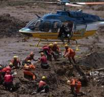 Sube a 157 muertos el balance de la tragedia minera en Brasil. Foto: AFP