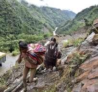 Sube a 4.436 el número de familias afectadas por las lluvias en Bolivia. Foto: AFP