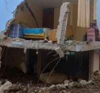 El distrito de Aplao, en Arequipa, en el sur de Perú, es uno de los más afectados por las lluvias. Foto: AFP