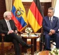 Ecuador recibe la visita oficial del presidente de Alemania. Foto: Twitter Lenín Moreno