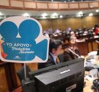 QUITO, Ecuador.- En total, 109 legisladores ratificaron el artículo 98 sobre la producción de publicidad nacional. Foto: Twitter
