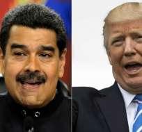 """Maduro denunció """"planes de guerra"""" de los gobiernos de Donald Trump (EE.UU.) e Iván Duque (Colombia). Foto: AFP"""