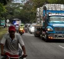 Venezuela en semana crucial en pulso Guaidó-Maduro por ayuda humanitaria. Foto: AFP
