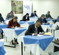 QUITO, Ecuador.- Javier Bosquez fue el candidato con mayor puntuación de la prueba escrita. Foto: CPCCS Transitorio.