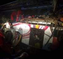 La colisión ocurrió la madrugada del lunes a unos 220 kilómetros al sur de La Paz. Foto: AP