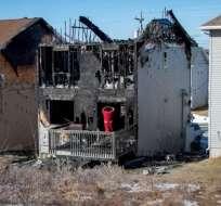 7 niños de la misma familia mueren en el incendio de una casa en Canadá. Foto: CBS