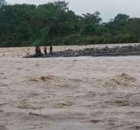 Brayan Chuncho cruzaba con sus compañeros el río Arajuno, indicó el Ejército. Foto referencial / Archivo Twitter Policía