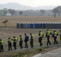 La cooperación extranjera entrará el sábado 23 de febrero, según Juan Guaidó. Foto: AFP