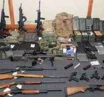 Múltiples armas y municiones fueron encontradas en la casa de Christopher Paul Hasson en Silver Spring, EE.UU.
