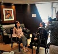 Caterina Costa durante una entrevista sobre nuevo acuerdo con FMI y otras multilaterales. Foto: Cámara de Industrias