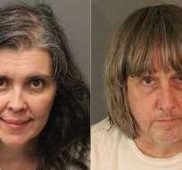 Louise y David Turpin, de 47 y 59 años, respectivamente. Foto: AFP