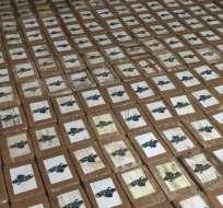 La incautación fue de 794 kilos de cocaína en el recinto La Cadena. Foto: Fiscalía