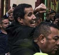"""Presidente interino dijo que Maduro está """"cada vez más sólo y más desesperado"""". Foto: AFP"""
