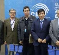 Presentan comisión técnica para revisar sistema informático del CNE. Foto: Twitter CNE