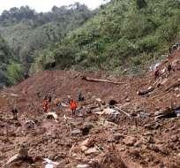 Agencia Nacional de Gestión de Desastres calcula que 60 personas están enterradas. Foto referencial / AFP