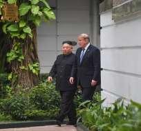 Trump afirmó ante la prensa no tener prisa para alcanzar un acuerdo. Foto: AFP