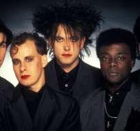 Andy Anderson (segundo a la izq.), se incorporó a The Cure en 1983.