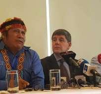 QUITO, Ecuador.- Los dirigentes indígenas consideran que los ecuatorianos no pueden asumir la responsabilidad. Foto: API