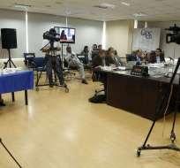 La funcionaria respondió tras rendir prueba oral dentro del concurso para fiscal general. Foto: API
