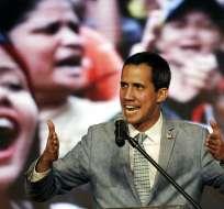Guaidó anuncia más movilizaciones hasta lograr democracia en Venezuela. Foto: AFP