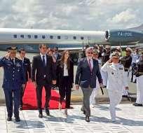 Reconocido por más de 50 países como presidente, Guaidó llegó para reunirse con Moreno. Foto: Twitter